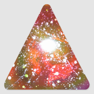 Spray Paint Art Night Sky Space Painting Triangle Sticker