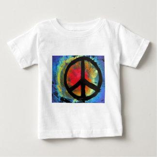 Spray Paint Art Rainbow Peace Sign Painting Baby T-Shirt