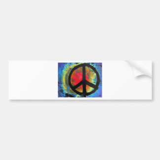 Spray Paint Art Rainbow Peace Sign Painting Bumper Sticker
