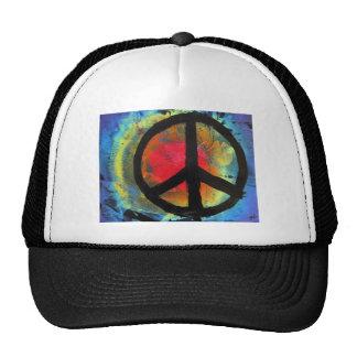 Spray Paint Art Rainbow Peace Sign Painting Cap