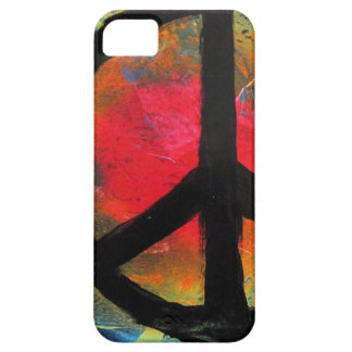 Spray Paint Art Rainbow Peace Sign Painting Case For The iPhone 5