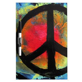 Spray Paint Art Rainbow Peace Sign Painting Dry-Erase Whiteboard