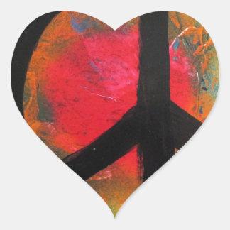 Spray Paint Art Rainbow Peace Sign Painting Heart Sticker