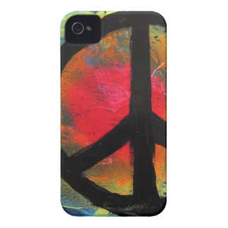 Spray Paint Art Rainbow Peace Sign Painting iPhone 4 Case-Mate Case