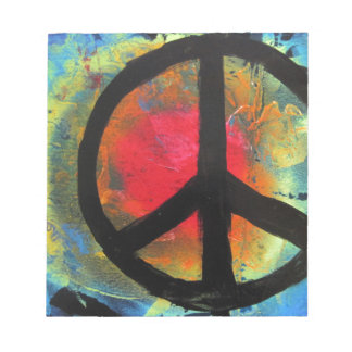 Spray Paint Art Rainbow Peace Sign Painting Notepads