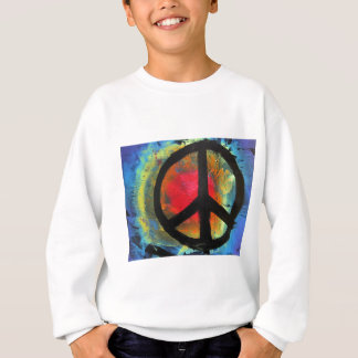 Spray Paint Art Rainbow Peace Sign Painting Sweatshirt