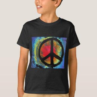 Spray Paint Art Rainbow Peace Sign Painting T-Shirt