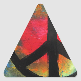 Spray Paint Art Rainbow Peace Sign Painting Triangle Sticker