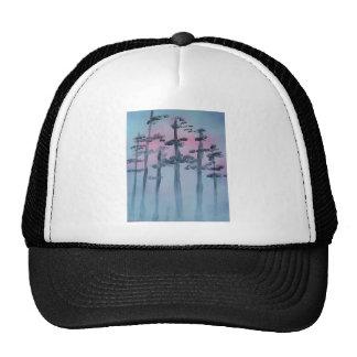 Spray Paint Art Sky and Trees Cap