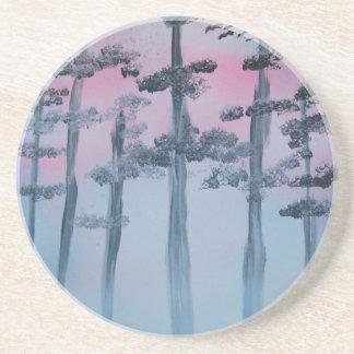 Spray Paint Art Sky and Trees Coaster