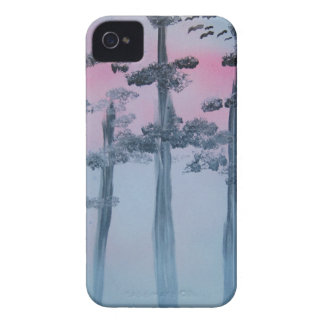 Spray Paint Art Sky and Trees iPhone 4 Case-Mate Cases
