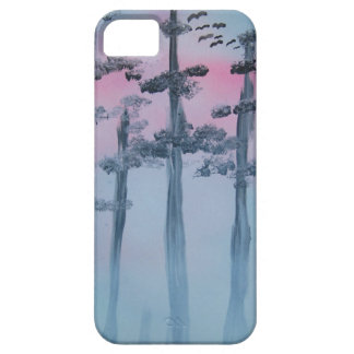 Spray Paint Art Sky and Trees iPhone 5 Case