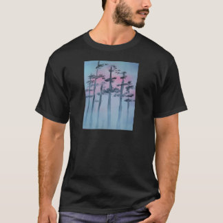 Spray Paint Art Sky and Trees T-Shirt