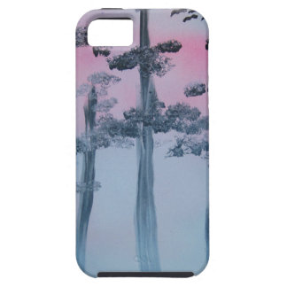 Spray Paint Art Sky and Trees Tough iPhone 5 Case