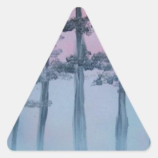 Spray Paint Art Sky and Trees Triangle Sticker