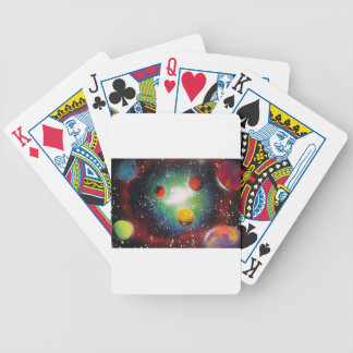 Spray Paint Art Space Galaxy Painting Bicycle Playing Cards