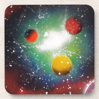 Spray Paint Art Space Galaxy Painting Drink Coasters