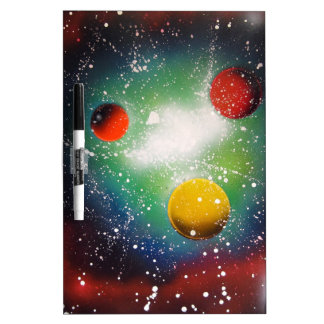 Spray Paint Art Space Galaxy Painting Dry Erase Board