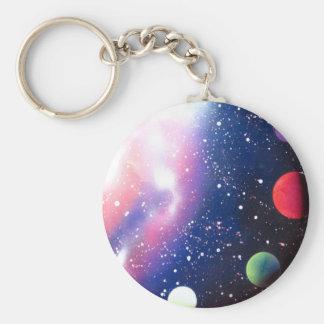Spray Paint Art Space Galaxy Painting Key Ring