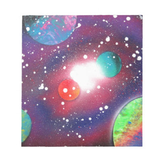 Spray Paint Art Space Galaxy Painting Notepad