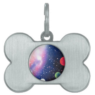 Spray Paint Art Space Galaxy Painting Pet ID Tag