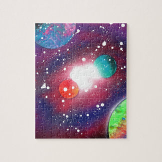 Spray Paint Art Space Galaxy Painting Puzzles