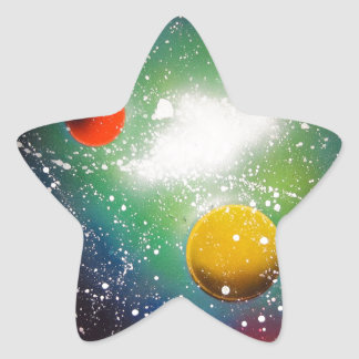 Spray Paint Art Space Galaxy Painting Star Sticker