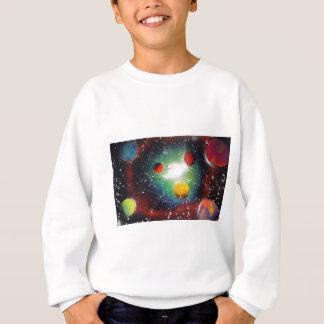 Spray Paint Art Space Galaxy Painting Sweatshirt