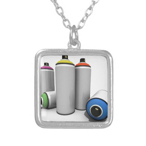 Spray Paint Cans Necklaces