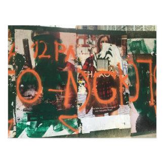 Spray Paint Graffiti Midtown Manhattan NYC Photo Postcard