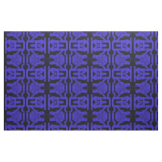 spray painted abstract Thunder_Cove blue/black Fabric