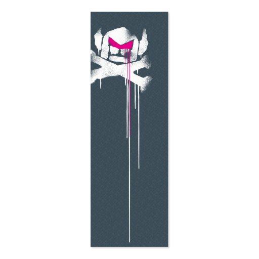 Spray Swede Drips - Grey w/ pink eyebrows Business Cards