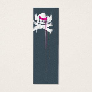 Spray Swede Drips - Grey w/ pink eyebrows Mini Business Card