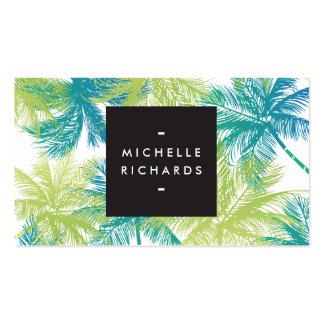 Spray Tanning Salon Blue/Green Palms Business Card