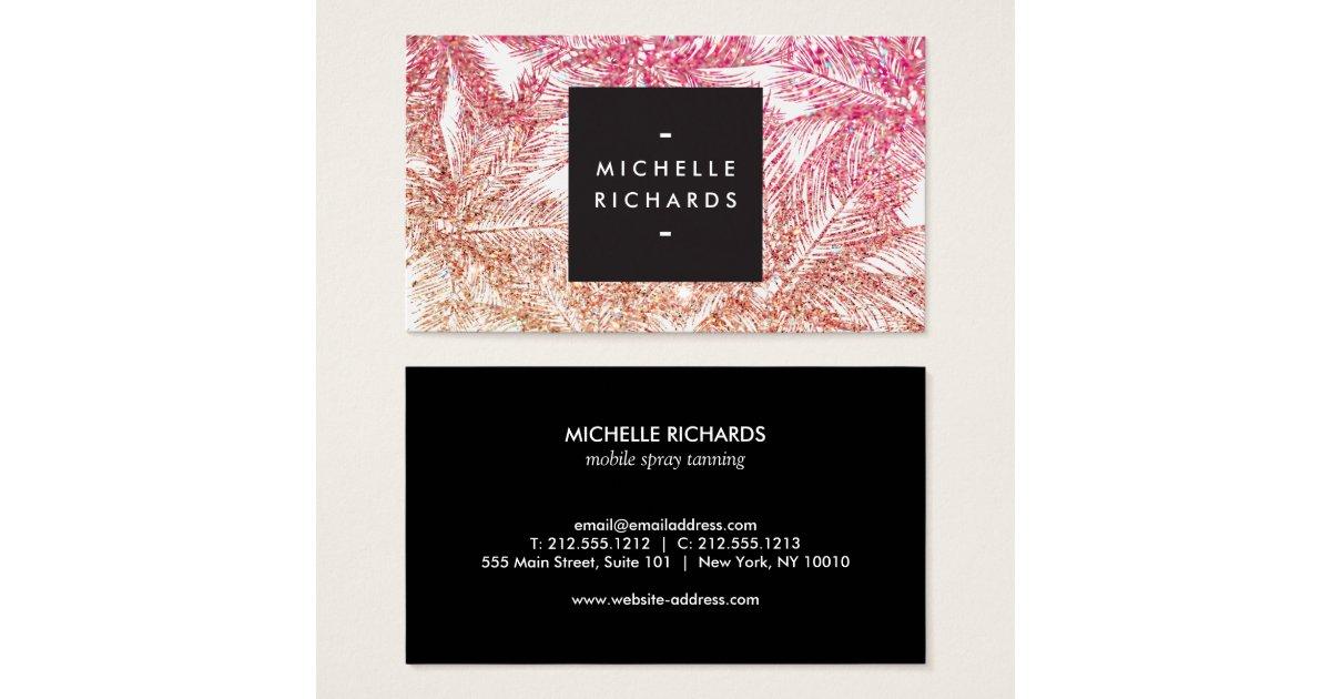 Airbrush Tanning Salon Business Card Zazzle