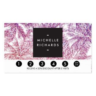 Spray Tanning Salon Glitter Palms Loyalty Card Pack Of Standard Business Cards