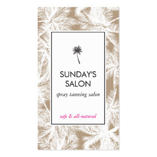 Spray Tanning Salon Tropical Tan/White Palms Pack Of Standard Business Cards