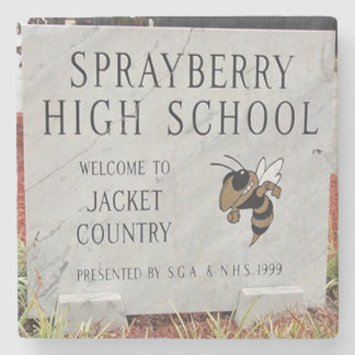 Sprayberry High School, Marietta, Ga. Marble Stone Stone Coaster