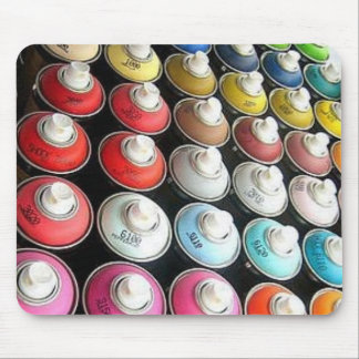 Spraypaint Cans Mouse Pad