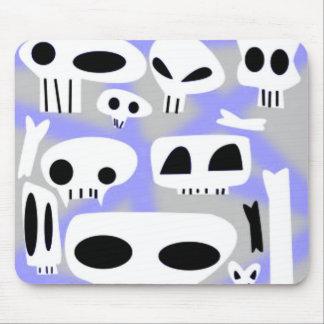 Spraypaint Emo Skulls & Bones Mouse Pad