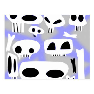 Spraypaint Emo Skulls & Bones Postcard