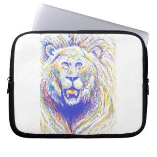 spraypaint lion e-bg laptop computer sleeve