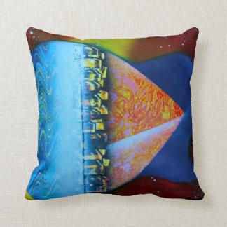 Spraypainting guitar pyramid city water cushion