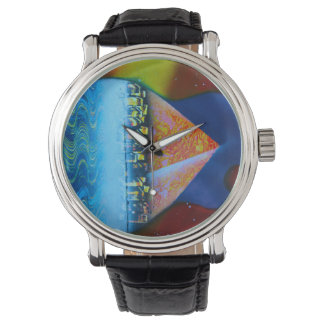 Spraypainting guitar pyramid city water wrist watches