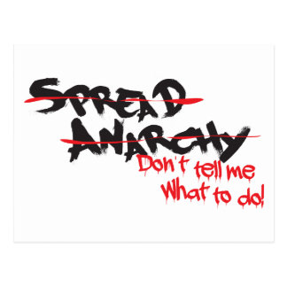 Spread Anarchy! Postcard