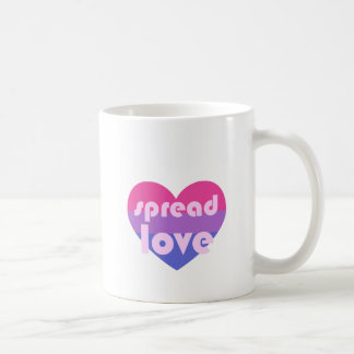 Spread Bisexual Love Coffee Mug