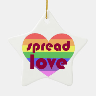 Spread Gay Love Ceramic Star Decoration