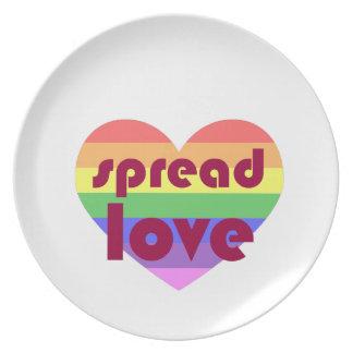 Spread Gay Love Plate