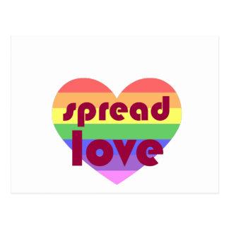 Spread Gay Love Postcard