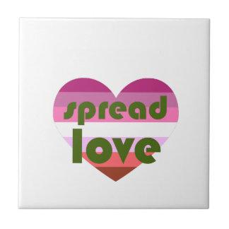 Spread Lesbian Love Ceramic Tile